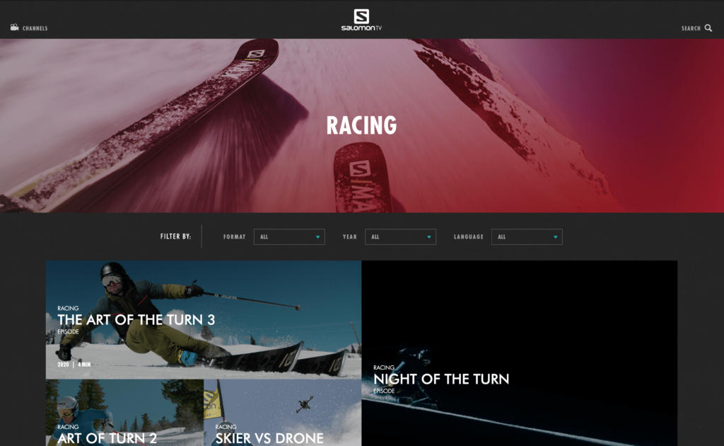 Branded VOD platform Salomon