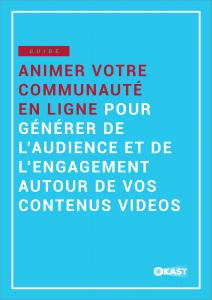 Couverture Guide Animer communauté
