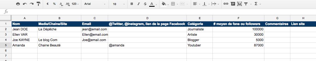 google-sheet-fr