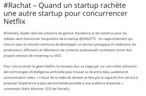 widoobiz achat startup netflix