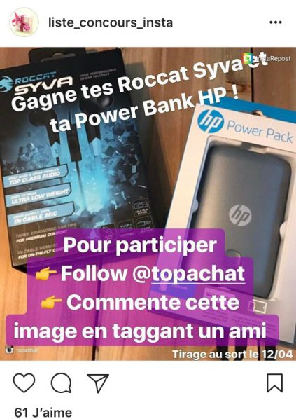 Concours Intagram