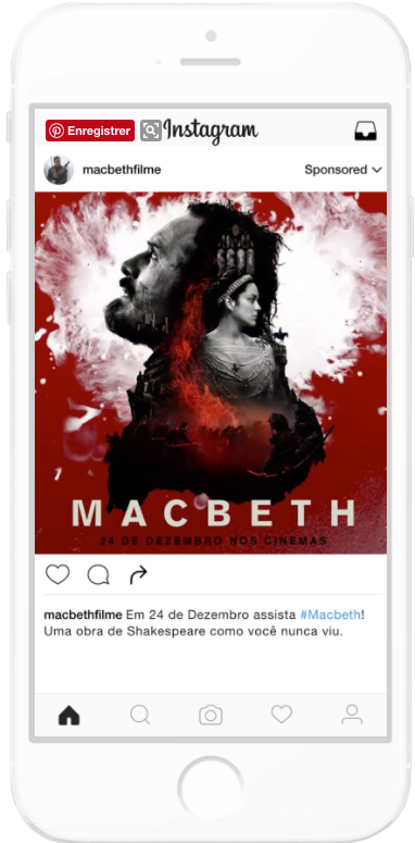 campagne video Macbeth Instagram