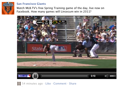 Baseball Facebook social media
