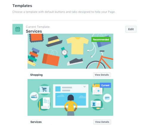 Page templates Facebook